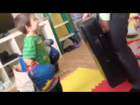 Physical Therapy Age 3 – Noah Boxing – Cerebral Palsy