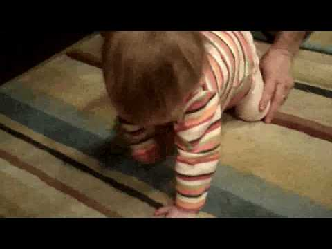 Hannah Learns to Crawl With The Bamboo Brace