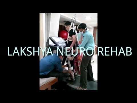 body weight supported treadmill training for hemiplegia at Lakshya Neuro Rehab, Ahmedabad