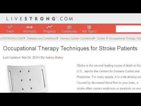 An Occupational Therapist's Therapeutic Exercises For Stroke Patients