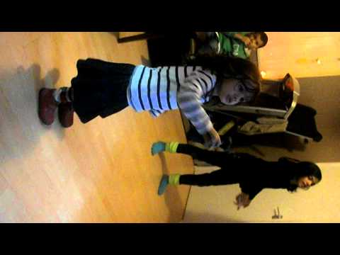 funny kids playing just dance 3 little girl has leftsided hemiplegia