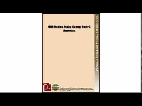 Download NIH Stroke Scale Group Test C Answers PDF