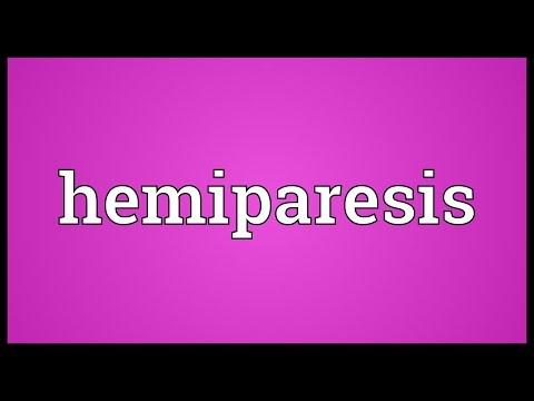 Hemiparesis Meaning