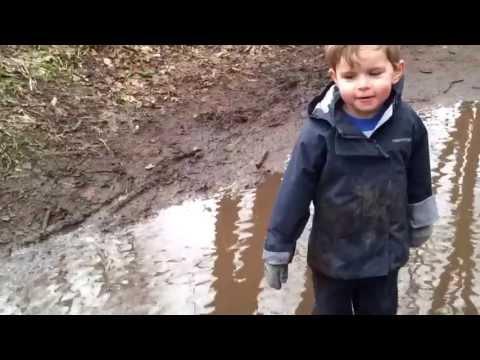 Puddle splashing at Apley Woods 27/01/2013 (age 3) Part 1