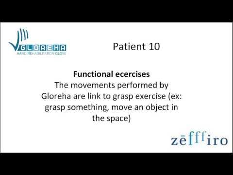 Patient 10 (hemiplegia, Traumatic brain injury) – Functional exercise with Gloreha (5)
