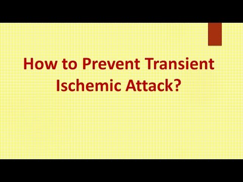 How to Prevent Transient Ischemic Attack ?