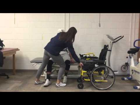 Standing Pivot Transfer with Right Sided Hemiplegia