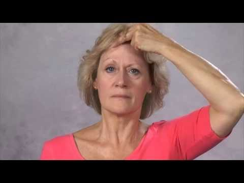 Facial exercises after a stroke (right hand)
