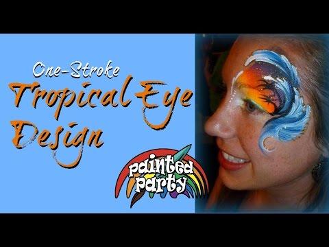 One-Stroke Tropical Eye Design