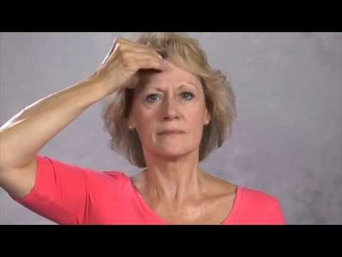Facial exercises after a stroke (left hand)