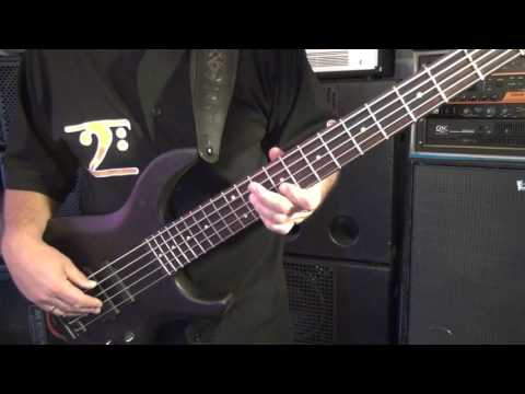 """Brush Stroke"" bass line – USA MTD Saratoga 5  – Andy Irvine"