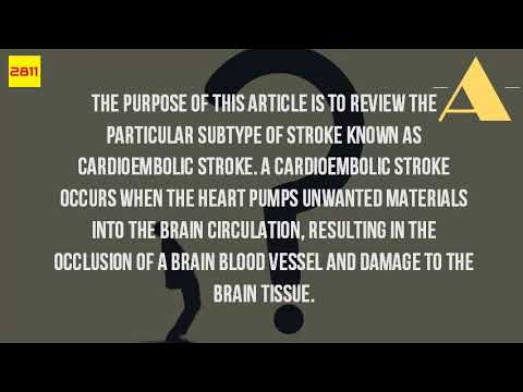 What Is A Cardioembolic Stroke?