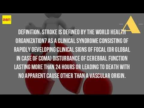 WHO Defines Stroke?