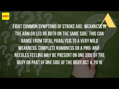 What Are The Signs Of A Pin Stroke?