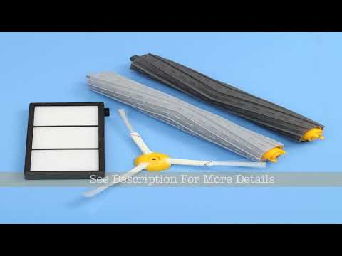 4pcs Extractor Brush and Filter Kit for iRobot Roomba 800 Series 870 880 Cleaner