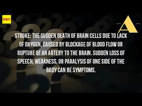 What Is The Medical Definition Of A Stroke?