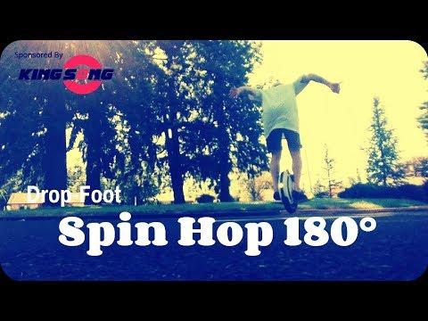 "Original EUC Street Tricks ""Drop Foot Spin Hop 180°"" KingSong KS14D"