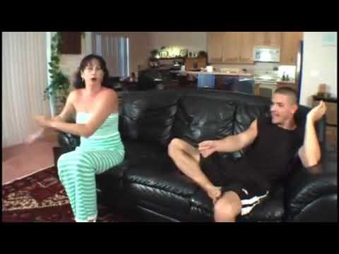 Family stroke mom teaches son how to do