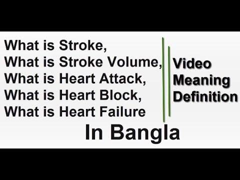 What is Stroke   Stroke Volume   Heart Attack   Heart Block   Heart Failure in Bangla