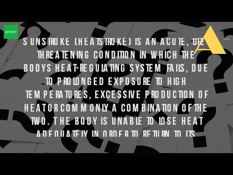 What Are The Symptoms Of Sun Stroke?