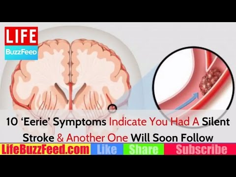Home Remedies: 10 'Eerie' Symptoms Indicate You Had A Silent Stroke & Another One Will Soon Follow