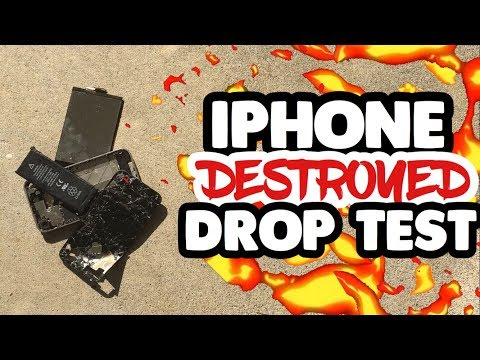 IPHONE DESTROYED FROM 6 FOOT DROP | DROP TEST