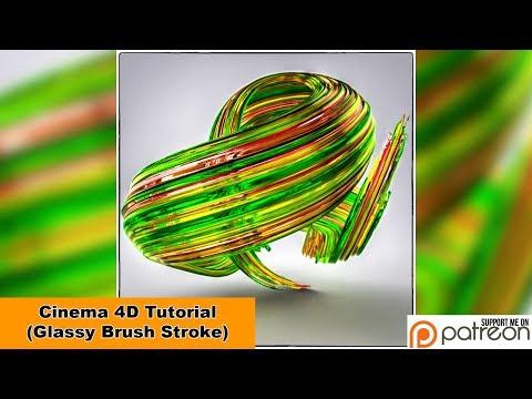 Glassy Brush Stroke (Cinema 4D – Tutorial)