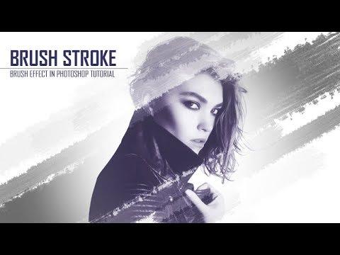 Brush stroke effect Photoshop cs3