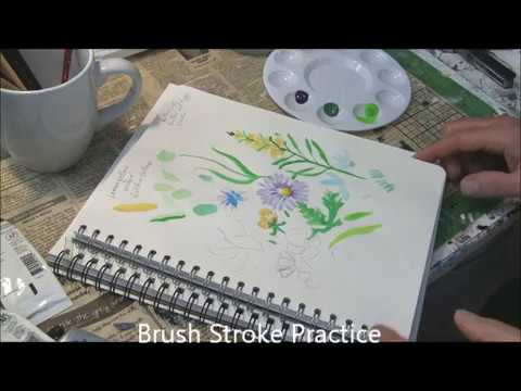 Brush Stroke for Grass like  leaves