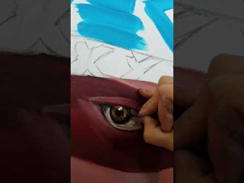 How to paint a realistic eye with fast strokes
