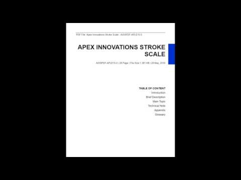Apex Innovations Stroke Scale