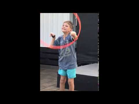 Dj hoola hoop fun (RIGHT HEMIPLEGIA)