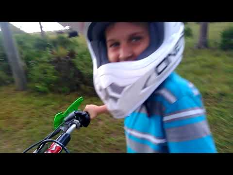 joshua and 65cc 2 stroke dirt bike VS straight away