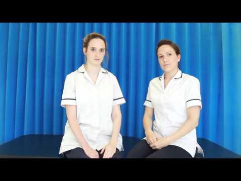Handling and positioning of a hemiplegic upper limb in sitting