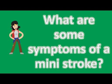 What are some symptoms of a mini stroke ? | Health and Life