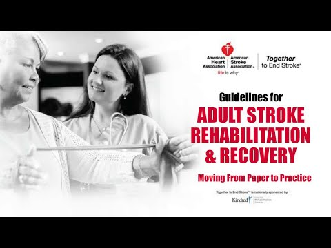 Stroke Rehab and Recovery Guidelines Webinar