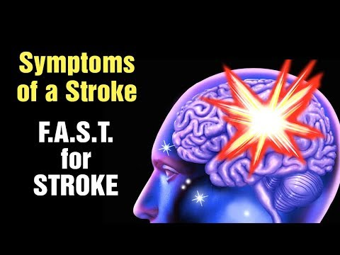 12 Symptoms Of A Stroke, FAST For Stroke.