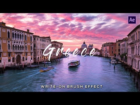 How To Make Write-On Brush Stroke Effect in After Effects CC!