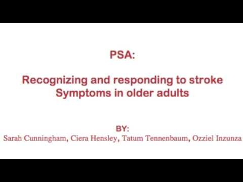 PSA HPS 400 Recognizing and responding to stroke symptoms in older adults