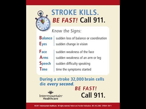 Warning Sign Of Stroke Will Save life