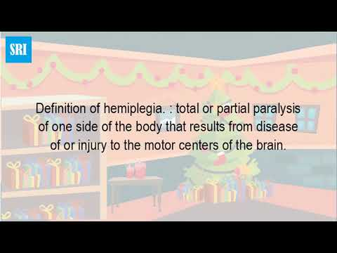 What Is The Definition Of Hemiplegia?