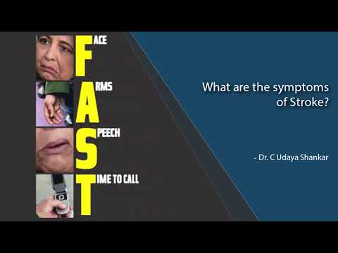 What are the symptoms of Stroke?