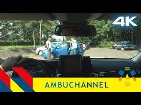 Ambulance POV: Man found in car suffering from stroke (CVA)
