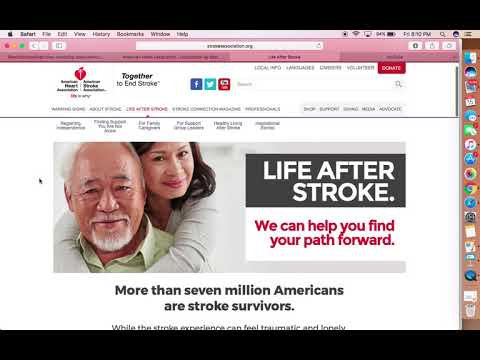 Internet Assignment: American Stroke Association