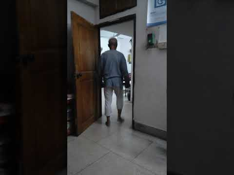 Physiotherapy manage ment of stroke patient at home.patient walking