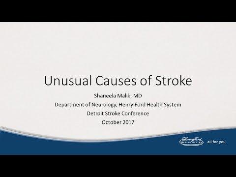 Unusual Causes of Stroke